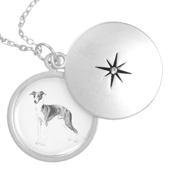 Italian Greyhound Style Silver Plated Necklace