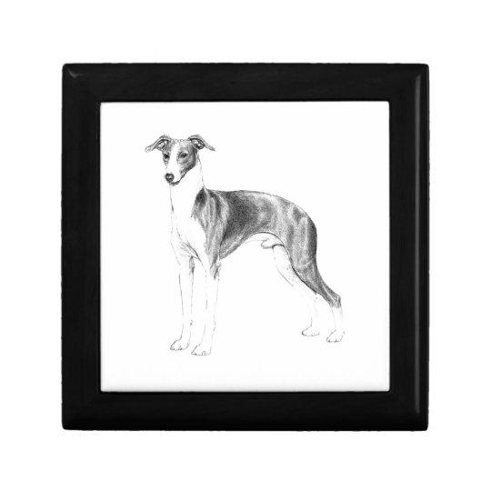 Italian Greyhound Style Small Square Gift Box