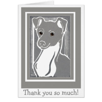Italian Greyhound Thank You Note Card