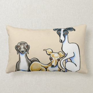 Italian Greyhound Trio Lumbar Cushion