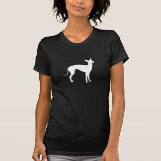 Italian Greyhound White on Black Tee Shirt