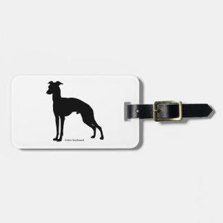 Italian gureihaundoragejitagu Italian Greyhound Luggage Tag