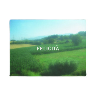 Italian Happiness and Scenic Countryside Doormat