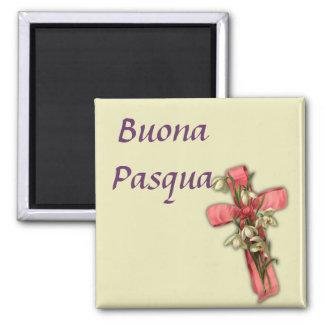 Italian Happy Easter -  Buona Pasqua Square Magnet