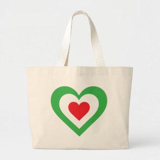 Italian Heart Canvas Bag
