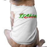 Italian Heart Breaker With Crown Sleeveless Dog Shirt
