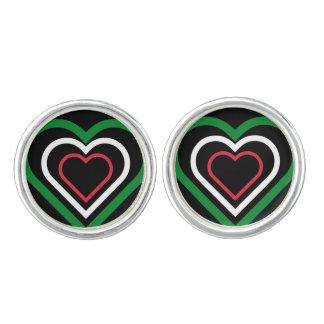 Italian Heart Italy Flag-inspired Cufflinks