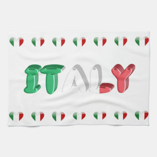 Italian hearts tea towel