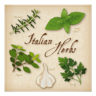 Italian Herbs, Basil, Oregano, Parsley, Garlic