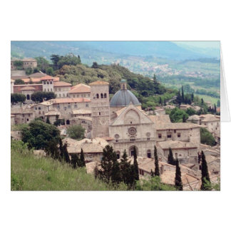 Italian Hillside Village and Valley View Card