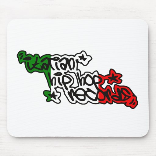 Italian Hip Hop Records Branded Gadgets Mousemats