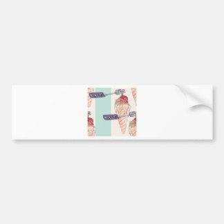 italian hoists cream bumper sticker