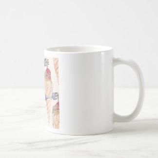 italian hoists cream coffee mug