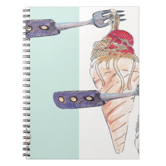 italian hoists cream notebook