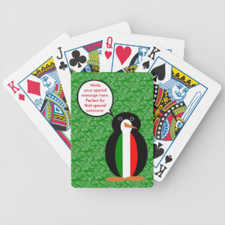 Italian Holiday Mr. Pengiun Bicycle Playing Cards