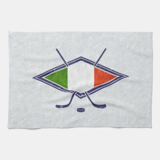Italian Ice Hockey Flag Logo Tea Towels