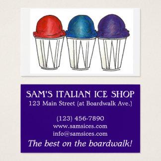Italian Ice Sno Cone Shaved Ice Food Snocone Beach Business Card