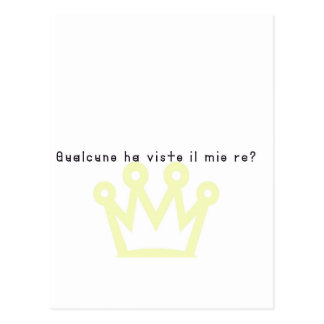 Italian-King Postcard