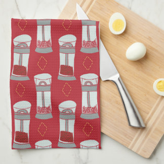 Italian Kitchen Salt and Pepper Shakers Tea Towel