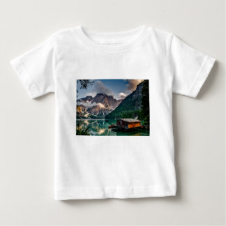 Italian Lake-Side Mountain Cabin Baby T-Shirt