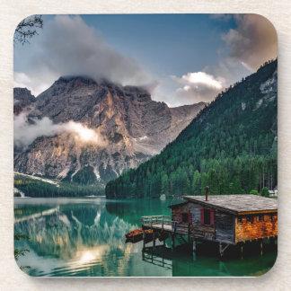 Italian Lake-Side Mountain Cabin Coaster