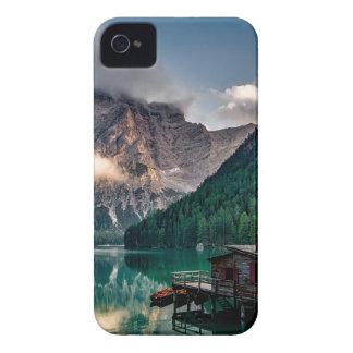 Italian Lake-Side Mountain Cabin iPhone 4 Covers