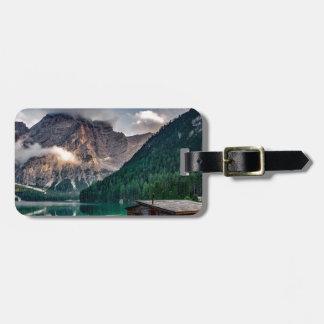 Italian Lake-Side Mountain Cabin Luggage Tag