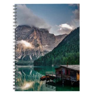 Italian Lake-Side Mountain Cabin Notebook