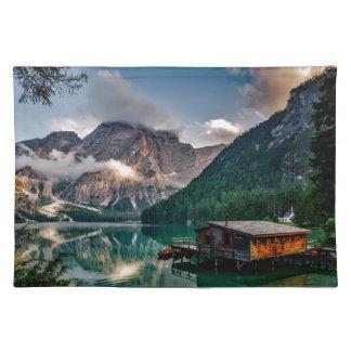 Italian Lake-Side Mountain Cabin Placemat