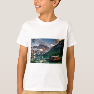 Italian Lake-Side Mountain Cabin T-Shirt