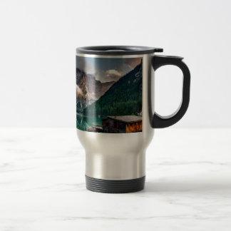 Italian Lake-Side Mountain Cabin Travel Mug