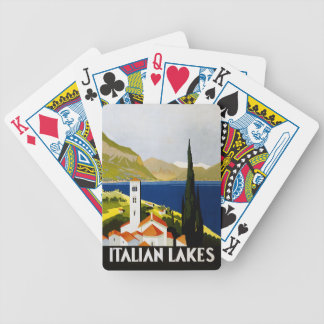 Italian Lakes Vintage Travel Poster Bicycle Playing Cards