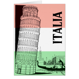Italian Landmark Greeting Card - Personalized