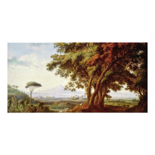 Italian Landscape By Hackert Jacob Philipp Picture Card