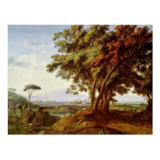 Italian Landscape By Hackert Jacob Philipp Postcard