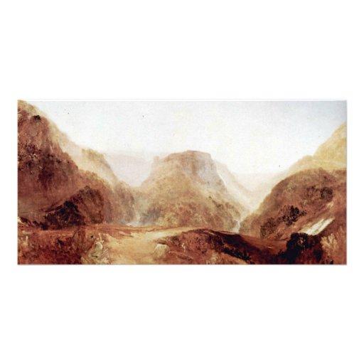 Italian Landscape By Turner Joseph Mallord William Custom Photo Card