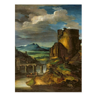 Italian Landscape or, Landscape with a Tomb Postcard