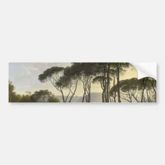 Italian landscape with umbrella pines oil painting bumper sticker