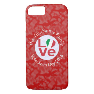 Italian LOVE White on Red iPhone 7 Case