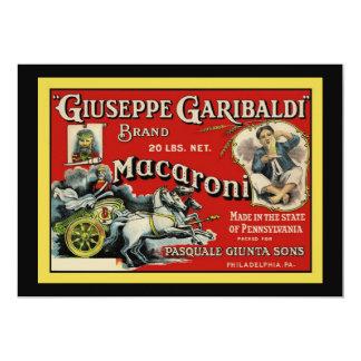 Italian Macaroni Advertisement Invitation