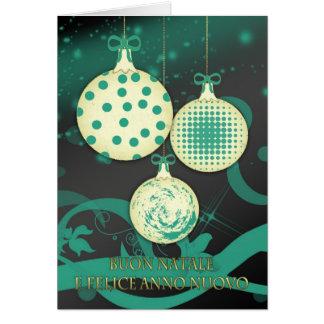 Italian Merry Christmas Christmas Card - Buon Nata