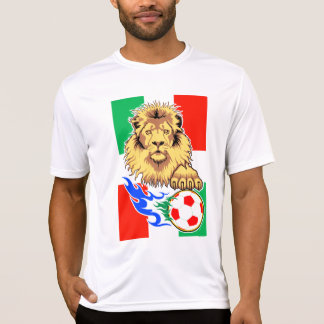 Italian,Mexican or Hungarian Soccer Lion T-shirt