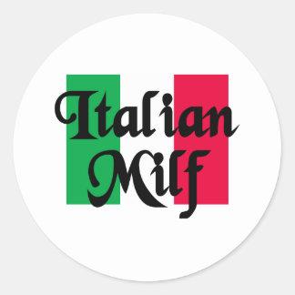 Italian Milf Round Sticker