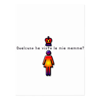 Italian-Mommy Postcard