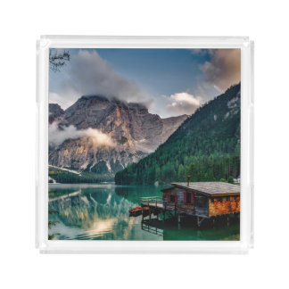 Italian Mountains Lake Landscape Photo