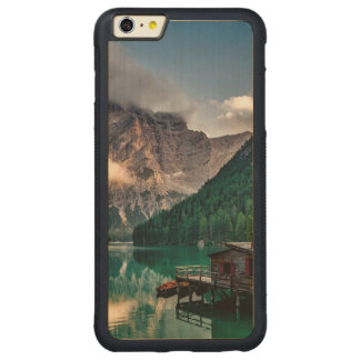 Italian Mountains Lake Landscape Photo Carved Maple iPhone 6 Plus Bumper Case