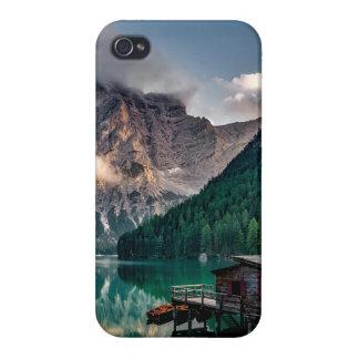Italian Mountains Lake Landscape Photo Case For iPhone 4