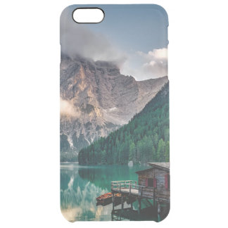 Italian Mountains Lake Landscape Photo Clear iPhone 6 Plus Case