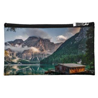 Italian Mountains Lake Landscape Photo Cosmetic Bag