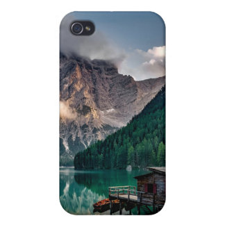 Italian Mountains Lake Landscape Photo Cover For iPhone 4